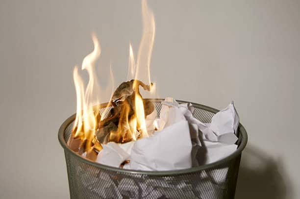 is it good to burn paper in a fireplace